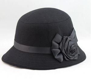 Abody Fashion Fedora Cloche Flower Rose Bucket Hat