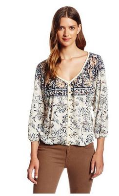 Lucky Brand Women's Hannah Peasant Top