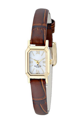 kate spade new york Women's 1YRU0633 Tiny Hudson Watch with Brown Leather Band