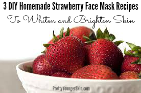 3 DIY Homemade Strawberry face Mask Recipes to whiten and brighten skin